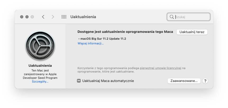 aktualizacja Apple macOS Big Sur 11.2 RC co nowego zmiany wykaz nowości