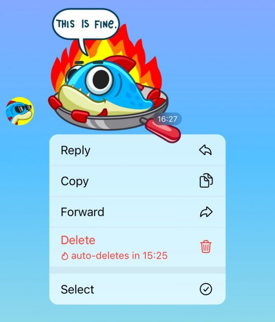 aktualizacja Telegram 7.5.0 co nowego nowości automatyczne usuwanie wiadomości