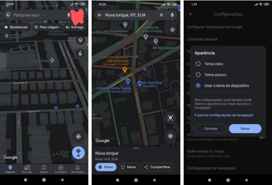 aplikacja Mapy Google Maps dark mode tryb ciemny motyw jak włączyć
