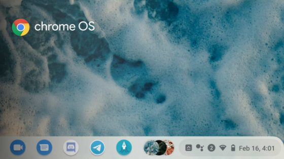 Google Chrome OS data pasek zadań