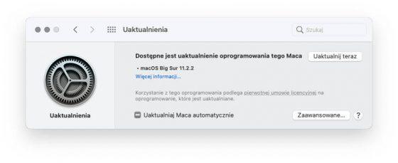 aktualizacja macOS 11.2.2 Big Sur co nowego poprawki nowości Apple Mac