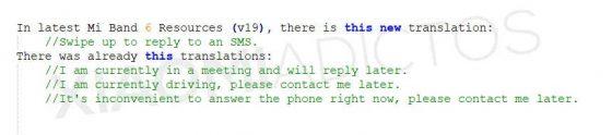 kiedy opaska Xiaomi Mi Band 6 nowe funkcje odpowiadanie na SMS WhatsApp
