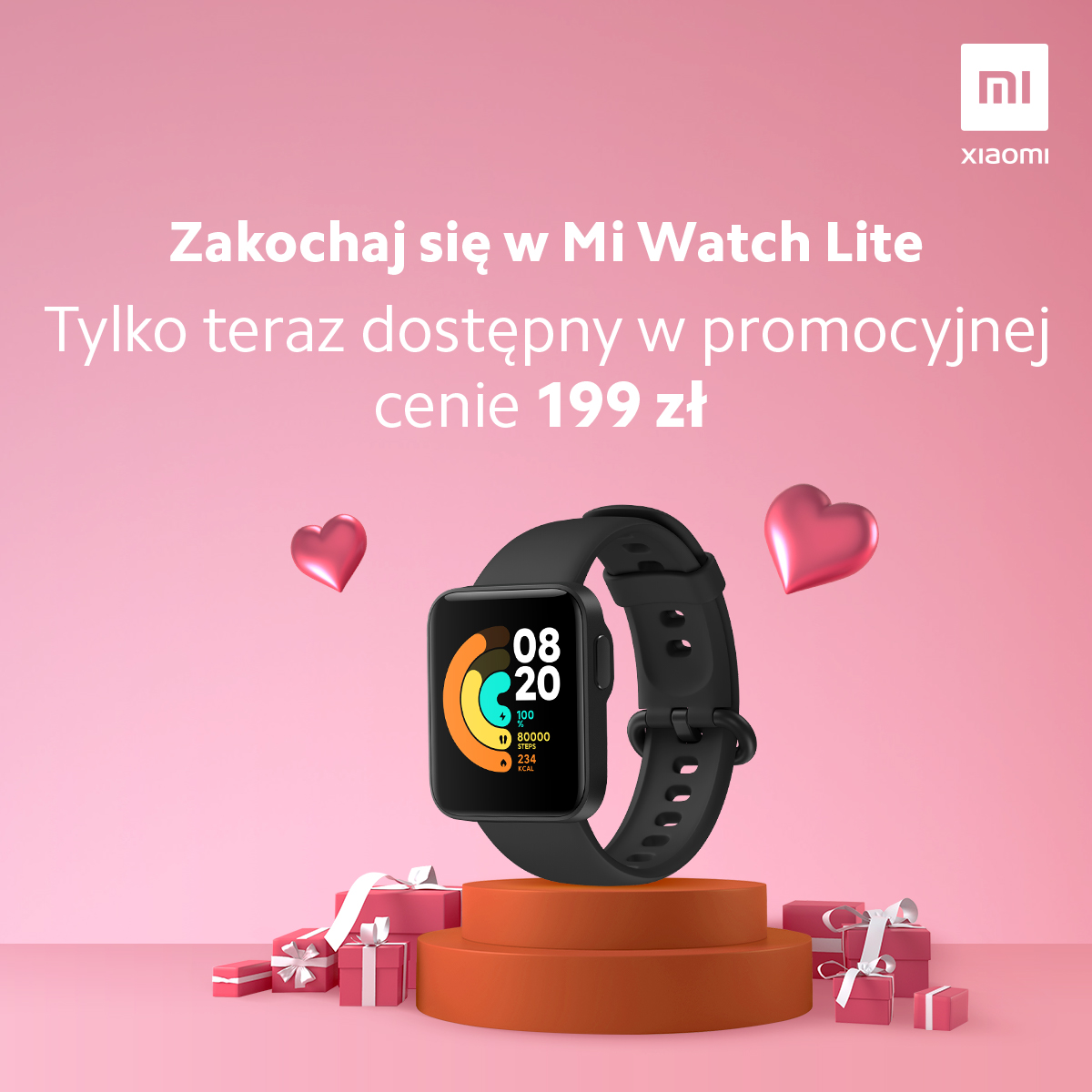promocja Xiaomi Mi Watch lite cena opinie gdzie kupić najtaniej w Polsce na walentynki