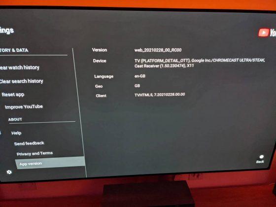 aplikacja YouTube Chromecast interfejs Android TV Google testy