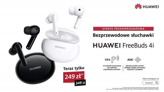 premiera Huawei FreeBuds 4i cena opinie gdzie kupić najtaniej w polsce