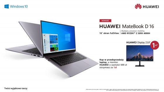 premiera Huawei MateBook D 16 cena opinie gdzie kupić najtaniej w polsce