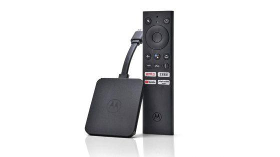 przystawka Android TV Motorola 4K Media Stick cena opinie gdzie kupić najtaniej