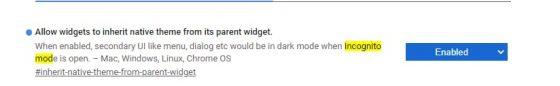 jak włączyć dark mode Google Chrome w incognito