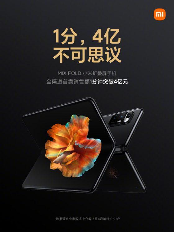 start Xiaomi Mi Mix Fold składany smartfon
