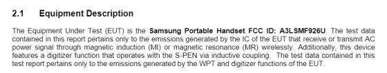 Samsung Galaxy Z Fold 3 S Pen UWB fFCC