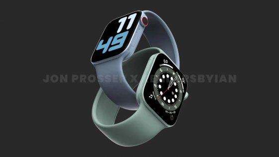 smartwatche Apple Watch 7 UWB węższe ramki plotki przecieki