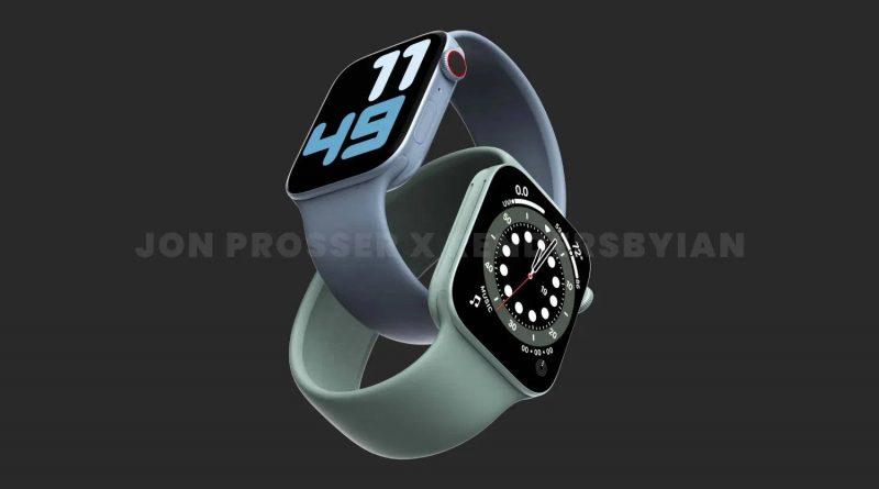 smartwatche Apple Watch 7 UWB węższe ramki plotki przecieki baterie S7