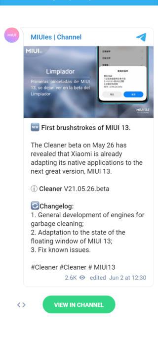 kiedy premiera nakładka Xiaomi MIUI 13 Cleaner