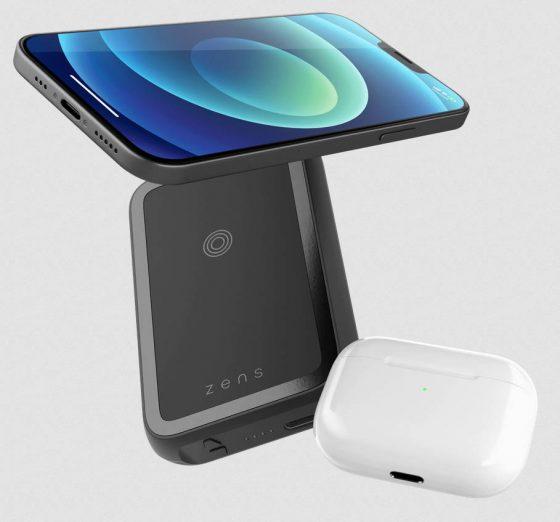 podwójny powerbank MagSafe Zens ZEPP03M cena opinie iPhone 12 AirPods