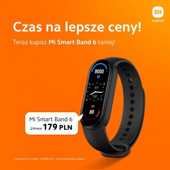 opaska Xiaomi Mi Band 6 cena gdzie kupić najtaniej w Polsce promocja Xiaomi Polska