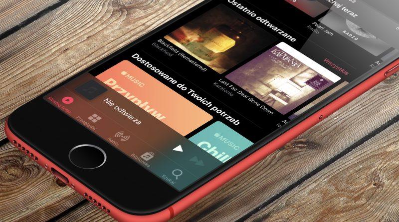 aplikacja Apple Music jakie wymagania dźwięk przestrznny który iPhone Xs wspiera