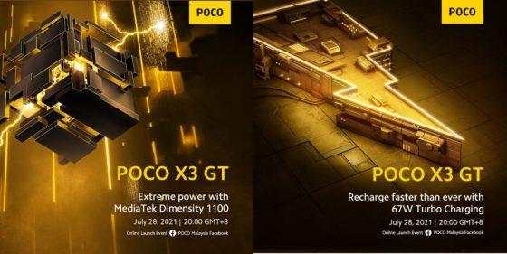 kiedy premiera POCO X3 GT cena specyfikacja techniczna