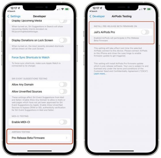 aktualizacja firmware beta dla AirPods Pro Apple jak zainstalować