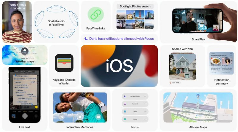 aktualizacje iOS 15 beta 3 iPadOS 15 watchOS 8 aplikacje
