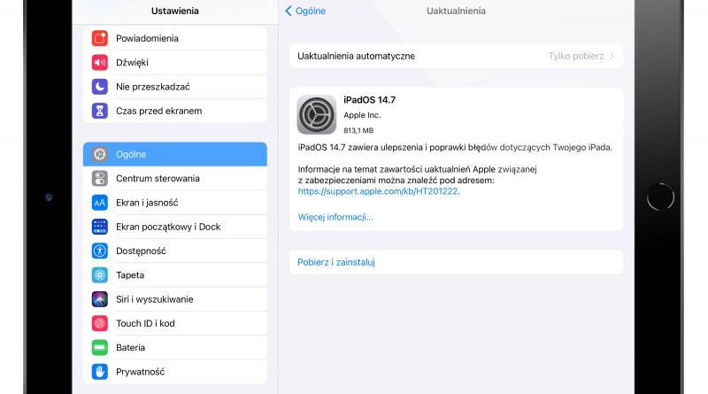 aktualizacja iPadOS 14.7 Apple iPad opinie co nowego nowości zmiany czy warto instalować