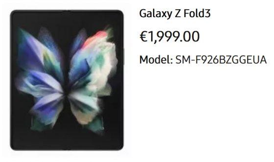 Samsung Galaxy Z Fold 3 cena Z Flip 3 Buds 2 Watch 4