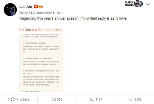 CEO Xiaomi opóźnienia MIUI 13