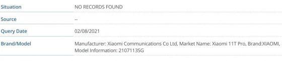 kiedy premiera Xiaomi Mi 11T Pro plotki przecieki specyfikacja techniczna