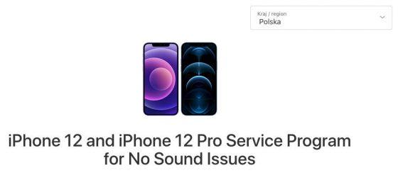 iPhone 12 Pro program naprawy akcja serwisowa Apple problemy dźwięk