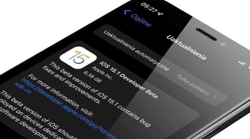 aktualizacja iOS 15.1 beta 2 co nowego iPhone 13 Apple Watch