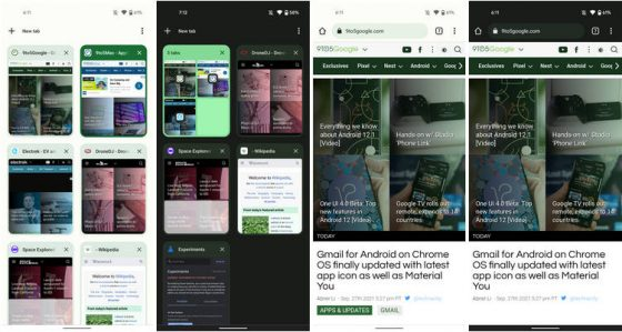 przeglądarka Google Chrome 94 Material You dynamiczne kolory