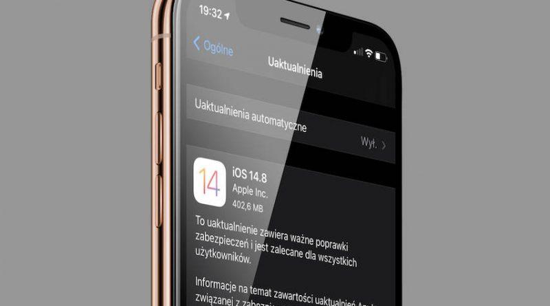 aktualizacja Apple iOS 14.8 iPadOS 14.8 macOS 11.6 watchOS 7.6.2 co nowego nowości wykaz zmian poprawki