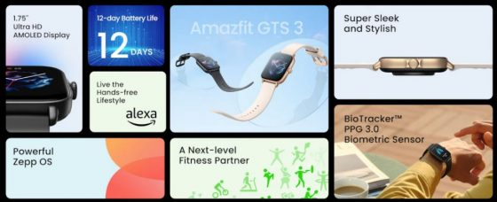 smartwatche Amazfit GTR 3 Pro cena Amazfit GTS 3 specyfikacja techniczna opinie gdzie kupić najtaniej w Polsce