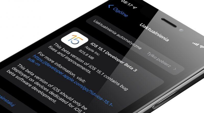aktualizacja iOS 15.1 beta 3 Apple iPhone 13 Pro ProRes