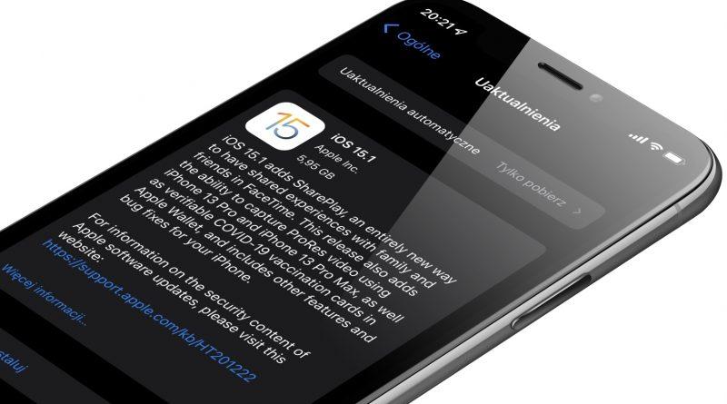 aktualizacja iOS 15.1 RC iPadOS 15.1 RC beta 1 Apple iPhone co nowego nowości zmiany kiedy macOS 12 Monterey