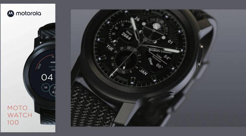 kiedy smartwatch Motorola Moto Watch 100 cena specyfikacja techniczna